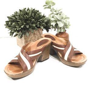 Dansko Women Slip On Clog Wedge Sandal size 10